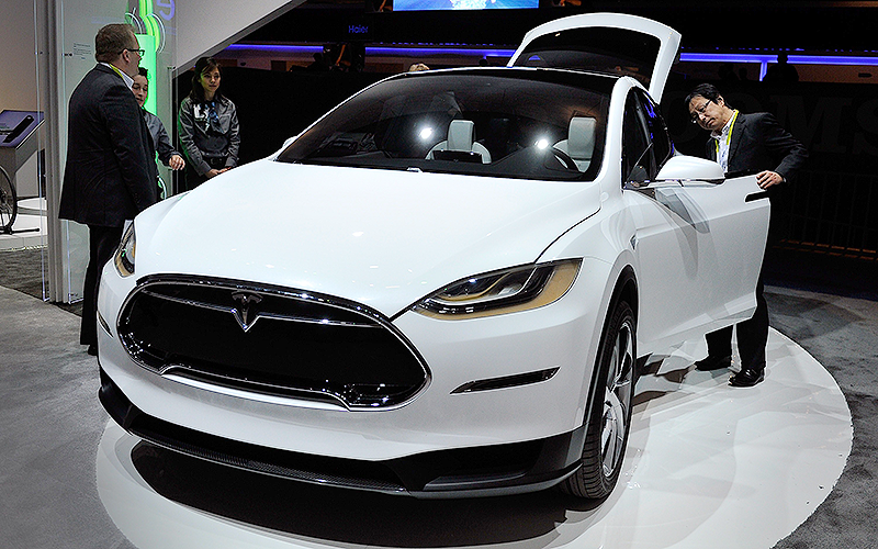 Model X, o primeiro SUV elétrico de luxo do mundo (Foto: David Becker/Getty Images/AFP)