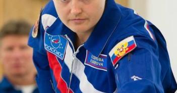 Elena Serova será a primeira mulher na ISS desde 1997 (Foto: AFP)