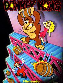 """Pôster do arcade """"Donkey Kong"""". O nome Mario só apareceu depois, inspirado em Mario Segali, dono de um galpão usado pela Nintendo norte-americana"""