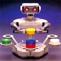 """Este é o Robotic Operating Buddy do NES, ou R.O.B.. O acessório excêntrico só teve dois jogos: """"Stack-Up"""" e """"Gyromite"""""""