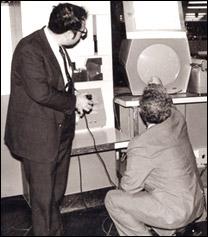 """O computador PDP-1 usado na programação de """"Spacewar!"""" (1961)"""