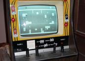 """O arcade """"Tank"""" com suas quatro alavancas... (1974)"""