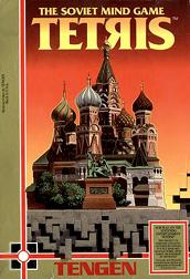 """Capa de """"Tetris"""" da Tengen (Atari). Hoje, uma raridade para NES"""
