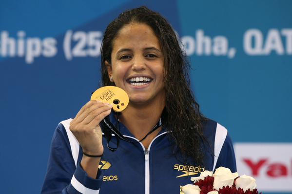 O sorriso da recordista mundial - (Foto: Satiro Sodre/SSPress)