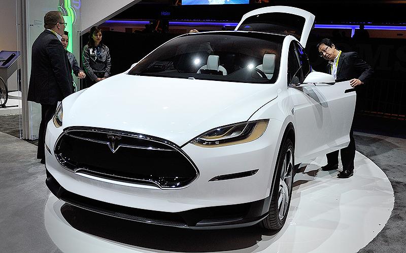 Model X, o primeiro SUV elétrico de luxo do mundo (Foto: David Becker/Getty Images/AFP)