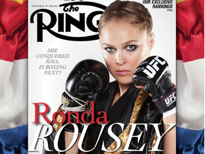 Ronda Rousey se torna a primeira lutadora de UFC a estampar a capa da 'The Ring' (Instagram/Reprodução)