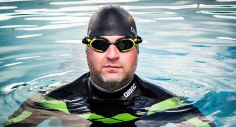 Ben Hooper vai nadar de Dacar (Senegal) a Natal/RN; travessia deve durar quatro meses - (Foto: Swim the Big Blue Expedition / Divulgação)