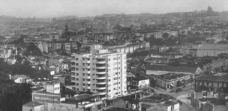 Edifício Columbus (ao centro), projeto de Rino Levi, construído na Av. Brigadeiro Luiz Antonio em 1932/Reprodução