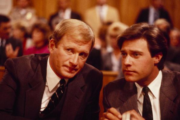 Howard com John James em 'The Colbys' (Foto: ABC/Arquivo)