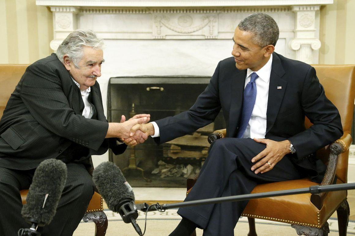 José Mujica e Barack Obama na Casa Branca (Foto: Jonathan Ernst/REUTERS)