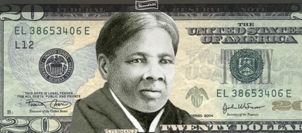 Simulação de uma cédula de US$ 20 com Harriet Tubman (Foto: Divulgação/Women on 20s)