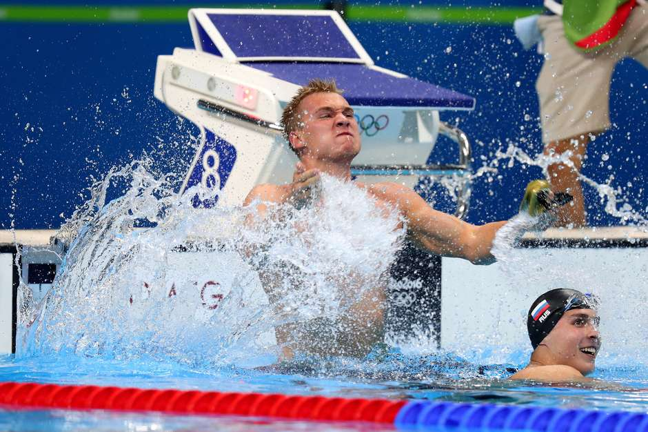 Dmitriy Balandin no Olympic Games at the Olympic Aquatics Stadium on August 10, 2016 in Rio de Janeiro, Brazil. - (AP Photo/Lee Jin-man)