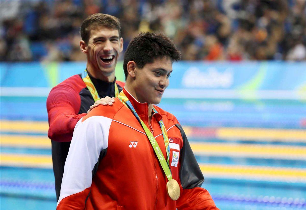 Schooling conheceu Phelps em 2008, ainda longe de imaginar que um dia iria bater o ídolo