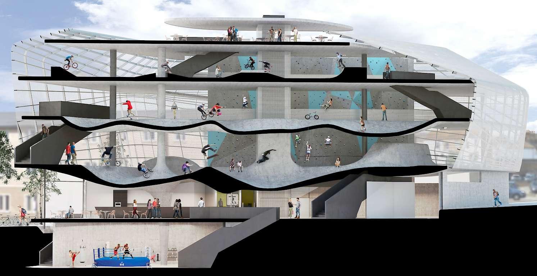 O primeiro edifício de skatepark do mundo