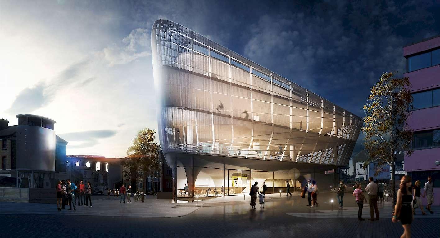 O primeiro edifício de skatepark do mundo (Foto: Divulgação)