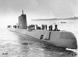 O Nautilus em foto de 1958