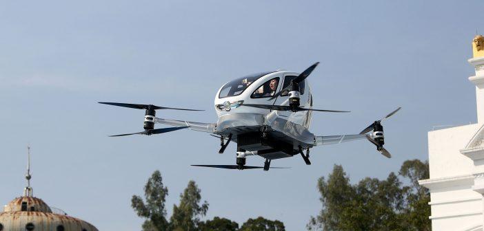 Com sede em Guangzhou, na China, EHang investe para lançar o primeiro táxi aéreo com dois lugares