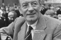 Actor Wilfred Pickles pictured in a school yard, May 1st 1961. (Photo by Don Smith/Radio Times/Getty Images)